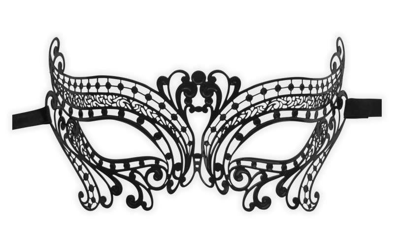 Filigree Metal Masquerade Mask 'Party Girl'