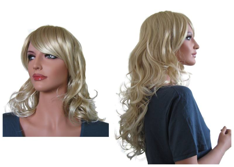 Wavy Wig Light Blonde Hair Mix