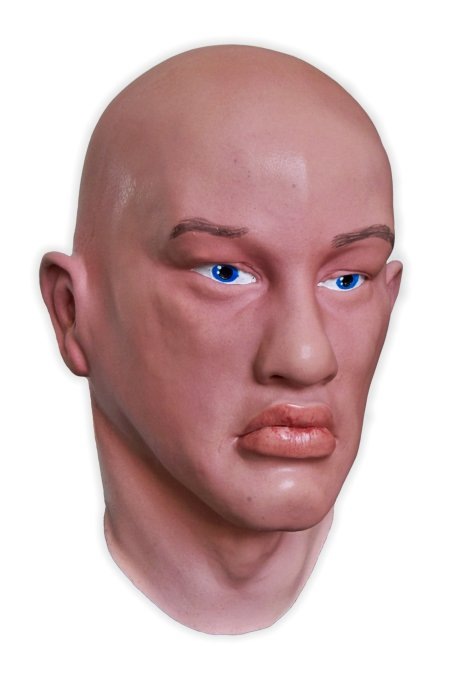 Realistic Mask Male Face 'Blue Eyes'