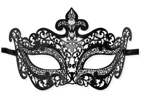 Masque vu00e9nitien dentelle de metal noir u0026#39;Selenau0026#39; : Mask ...