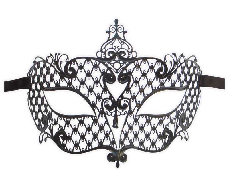 Metal Filigree Masquerade Mask for Ladies 'Countess'