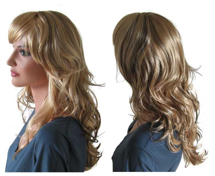 Mixed Blonde Wig with Brunette Highlights