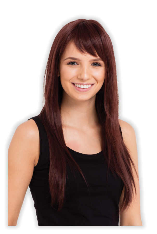 Brown Straight Wig 'Christelle'
