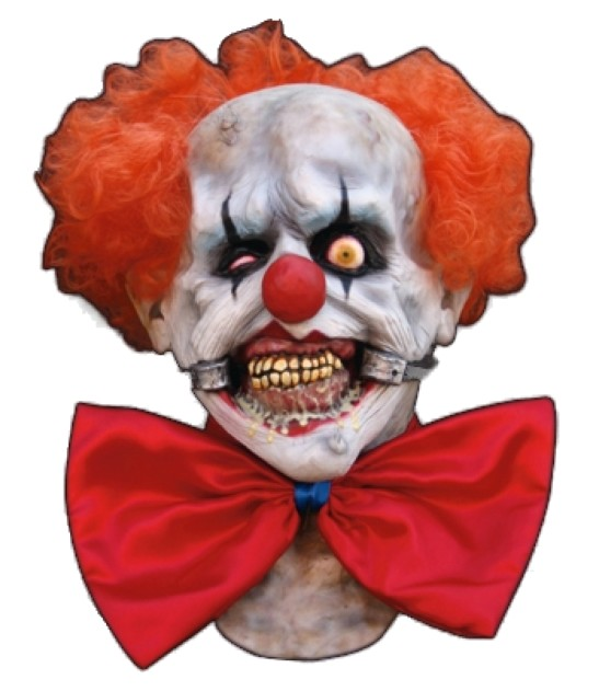 Scary Horror Clown Latex Mask