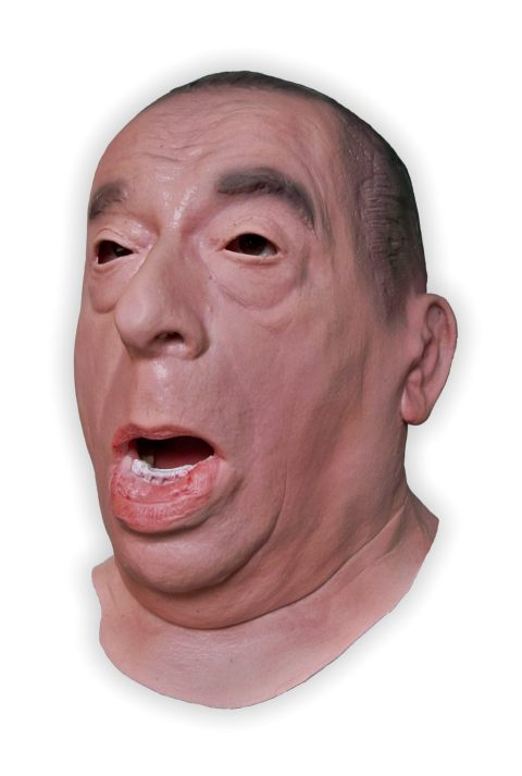 Angry Man Face Latex Mask