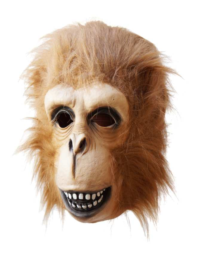 Ape Mask with Fake Fur