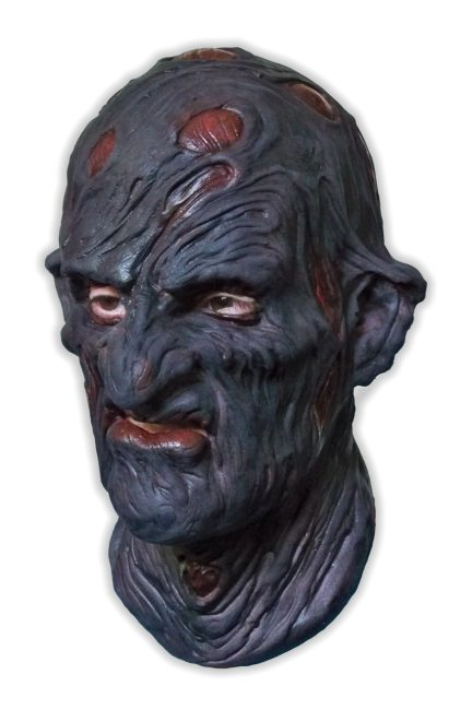 Black Face Horror Mask - Click Image to Close