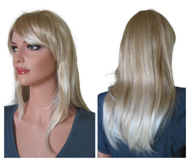 Blonde Wig with Platinum Blonde Highlights 55 cm