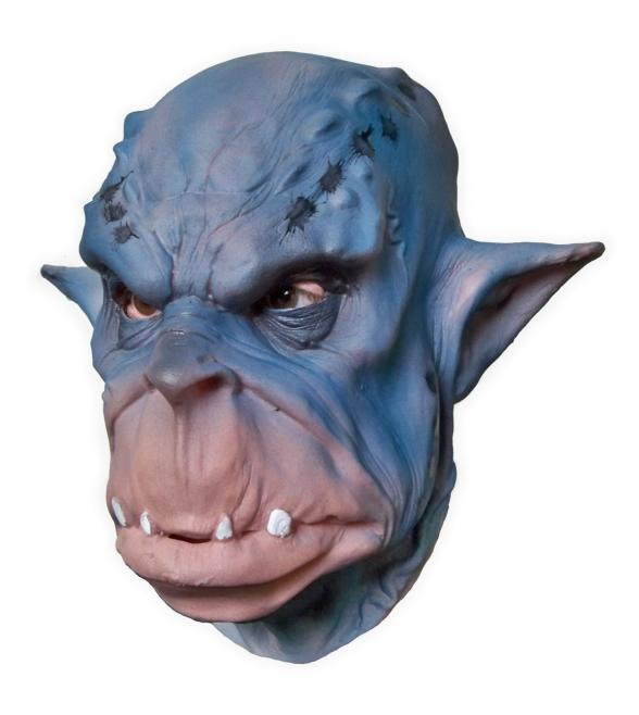 Latex Mask 'Blue Face Ogre'