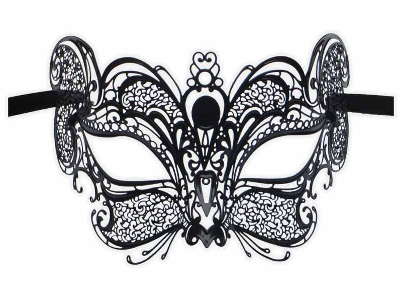Venetian Mask Filigree Metal 'Mia'