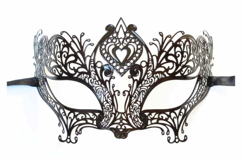 Filigree Metal Mask 'Heart Shape'