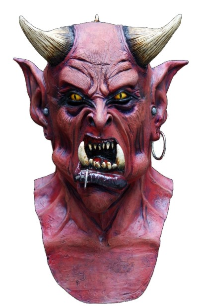 Hell Demon Latex Mask - Click Image to Close