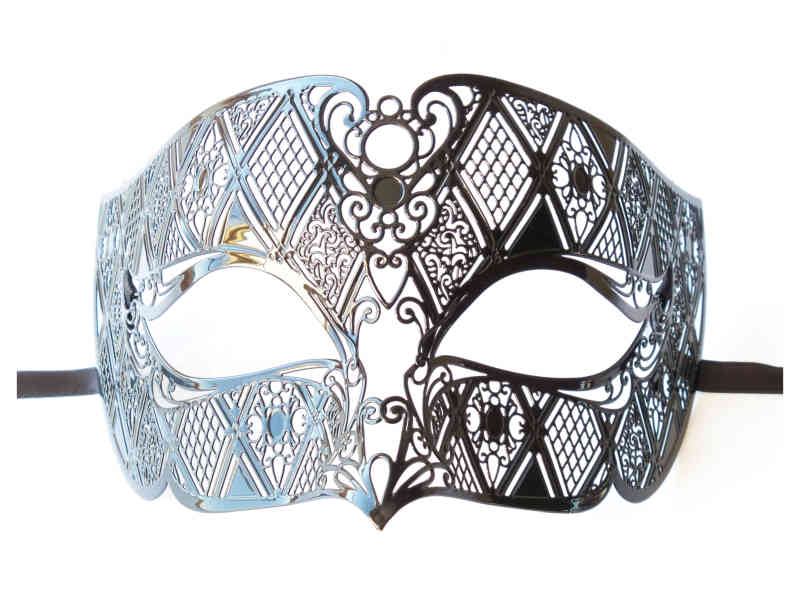 Men's Mask Black Metal
