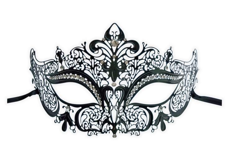 ramassé pas cher à vendre premier coup d'oeil Masque Venitien Noir en Dentelle de Metal 'Nelya' : Mask ...