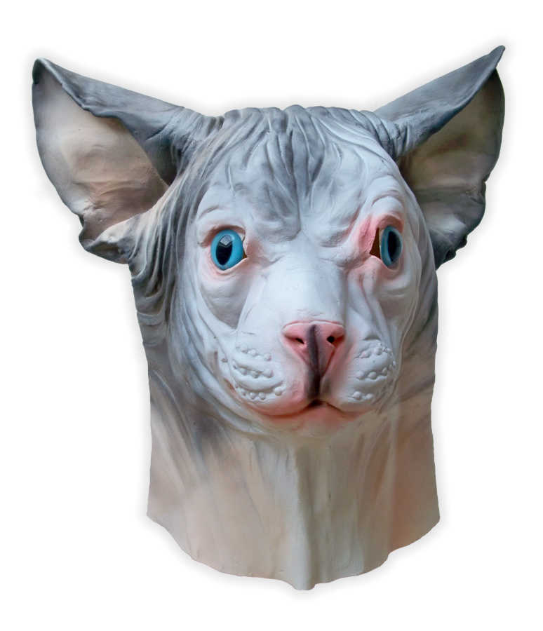 Sphynx Cat Latex Mask - Click Image to Close