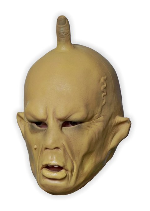 Yellow Face Latex Mask