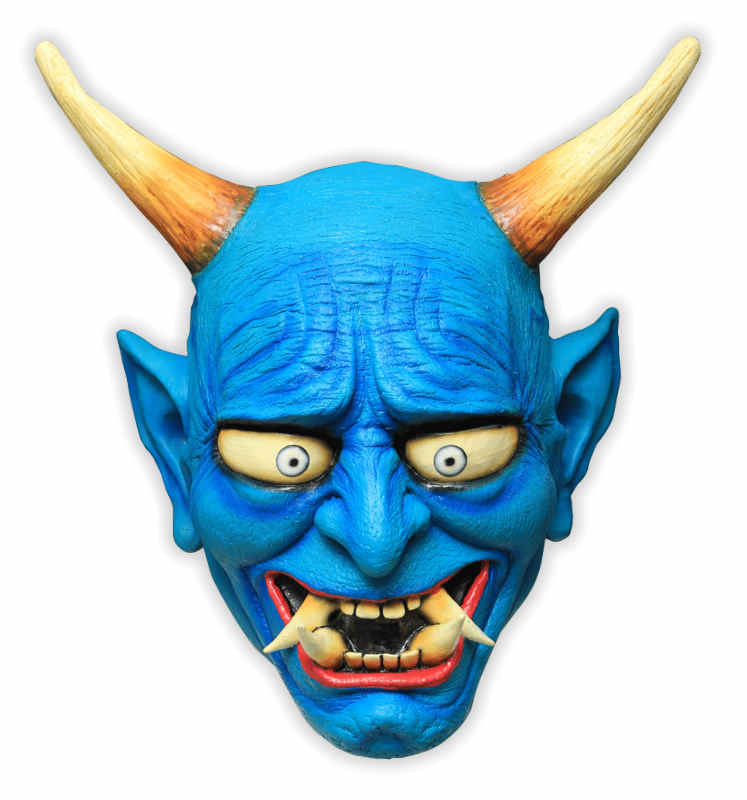 Blue Demon Latex Mask