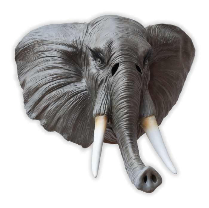 African Elephant Latex Mask