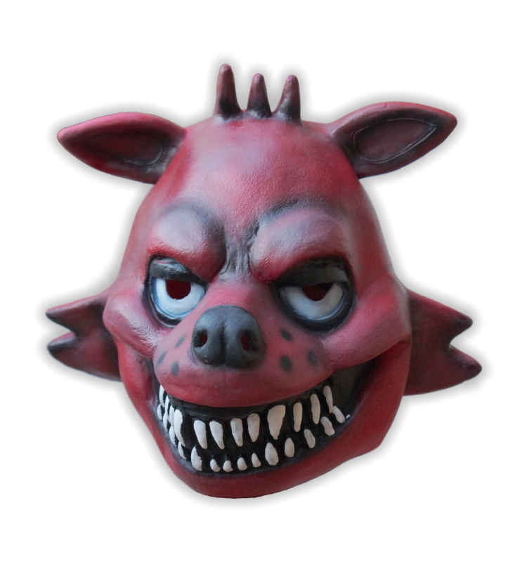 Latex Foxy Angry Fox Mask