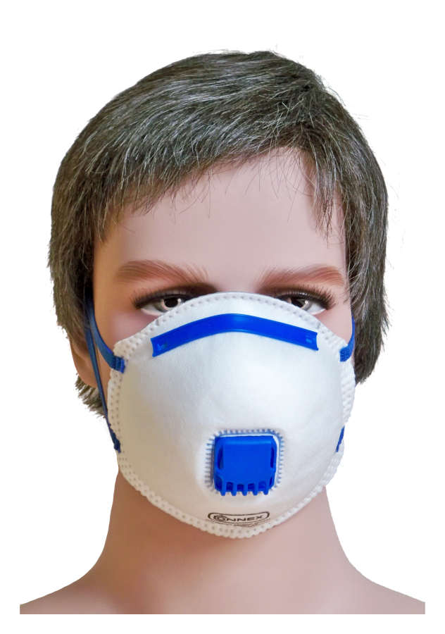 Respirator mask FFP2 with valve NR D - Set of 2 pieces