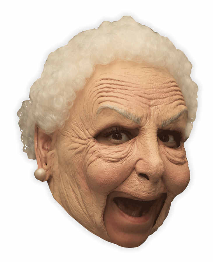 Crazy Grandma Latex Mask