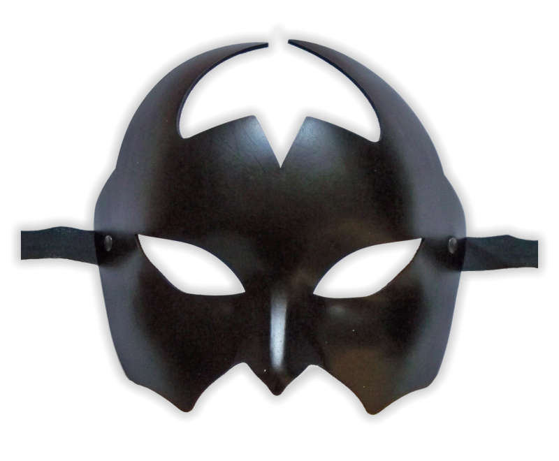 Venetian Leather Mask Black 'Devil'