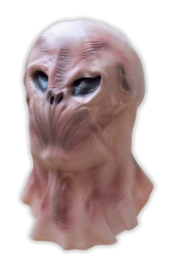 Alien Latex Mask Black Eyes No Mouth