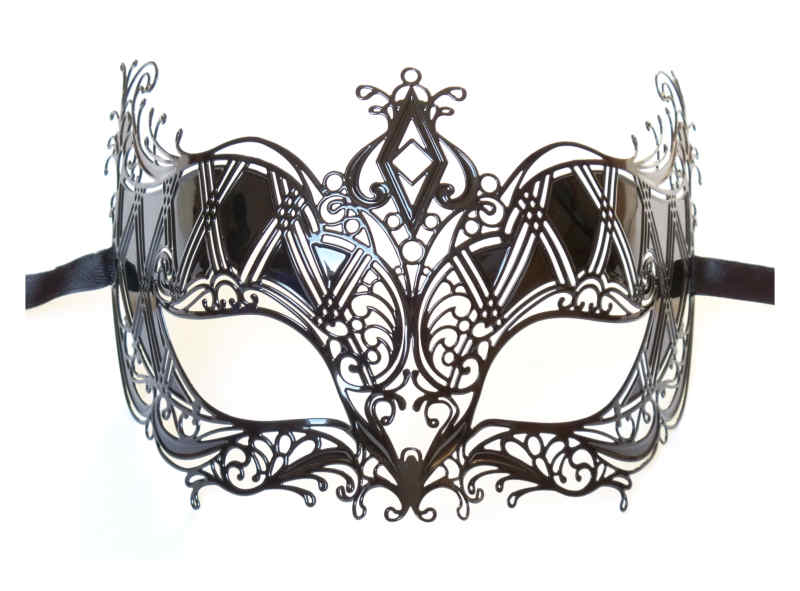 Filigree Metal Masquerade Mask 'Queen'