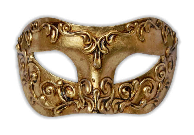 Venetian mask with golden stucco