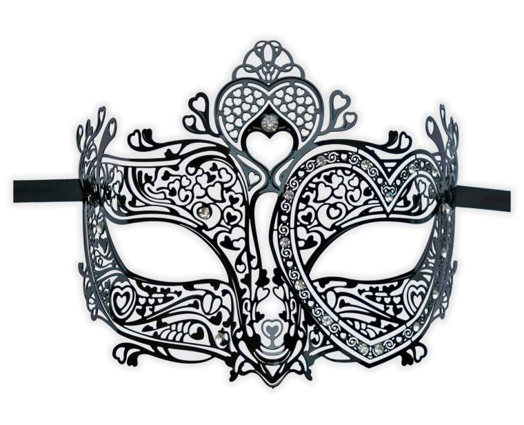 Venetian Mask Metal Filigree Style 'Gloriana'