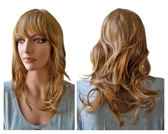 Light Blonde Auburn Ladies Wig 50 cm
