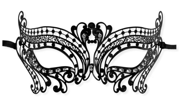 'Party Girl' Mask Filigree Metal