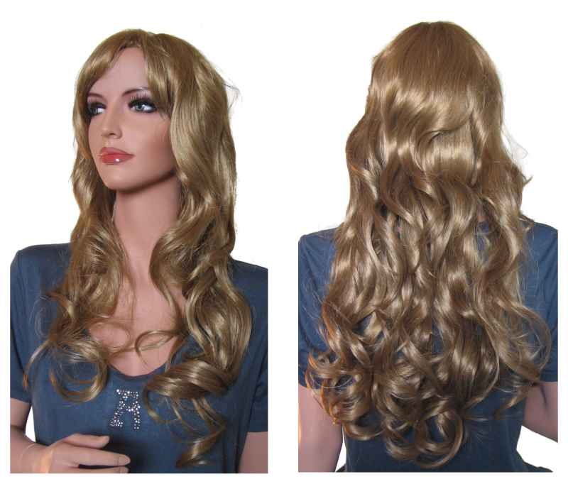 Curly Wig Strawberry Blonde