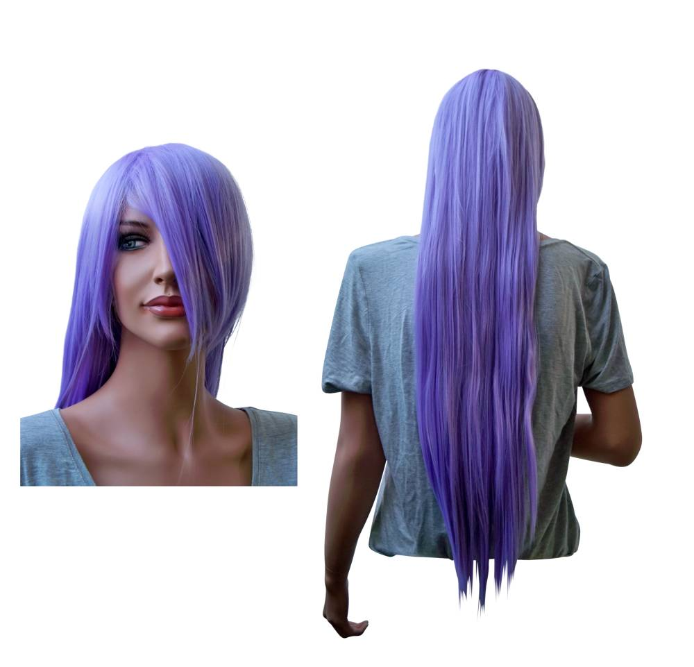 Cosplay Wig Lilac Long Straight