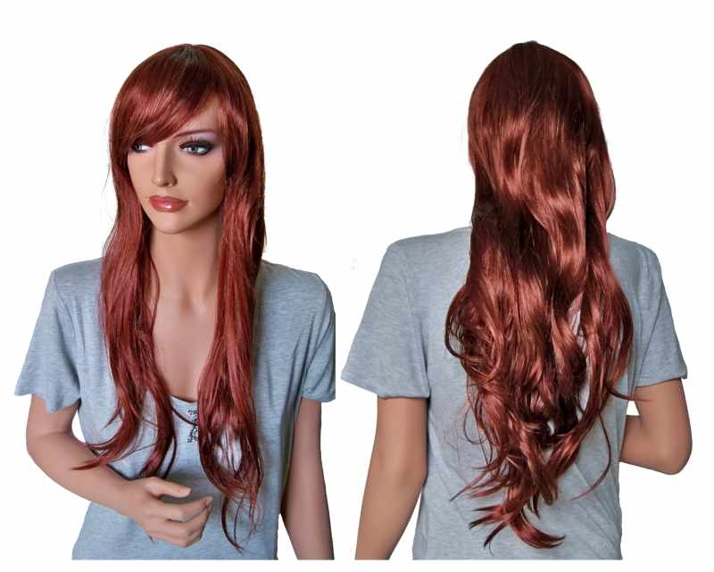 Long Auburn Ladies Wig 70 cm