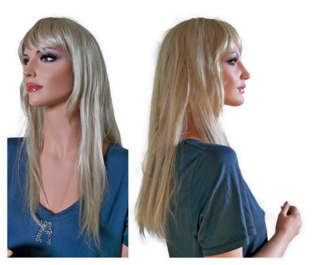 Ladies Wig Light Ash Blonde 60 cm