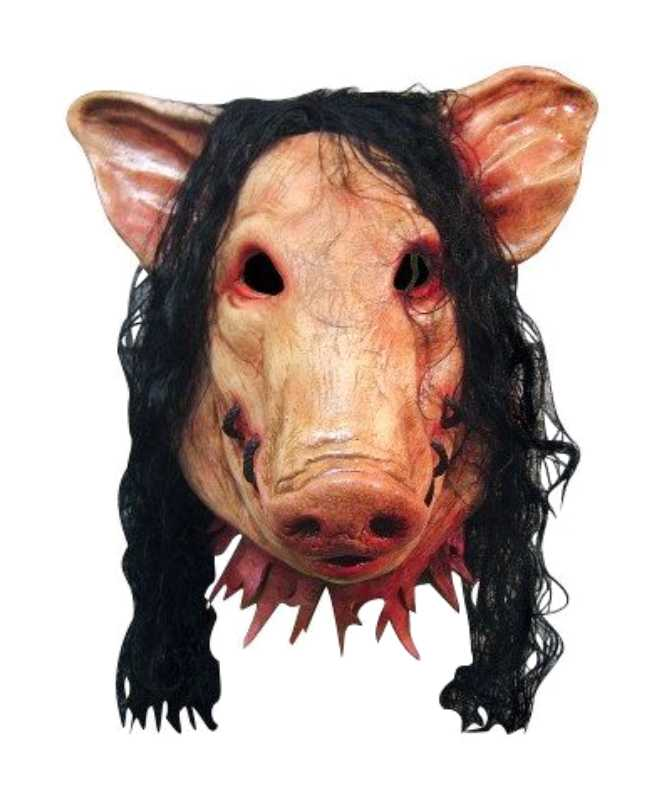 "SAW ""Pig Head"" Licensed Movie Mask - Click Image to Close"