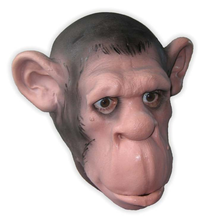 Foam Latex Chimp Mask