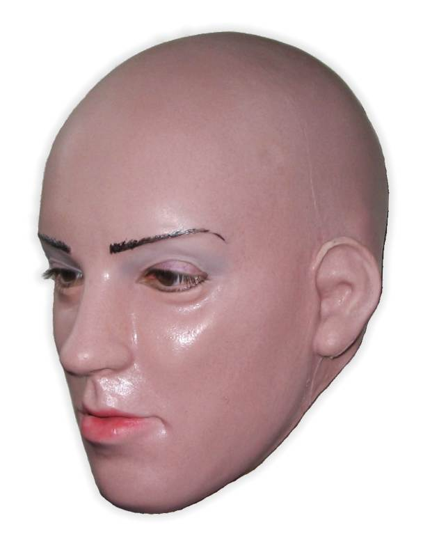 Sexy Vamp Woman's Face Rubber Mask