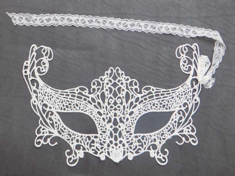 White Lace Mask Xc007 Mask Shop