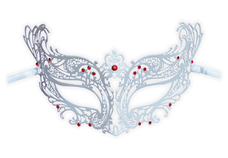white metal lace mask masquerade vanessa mask shop com