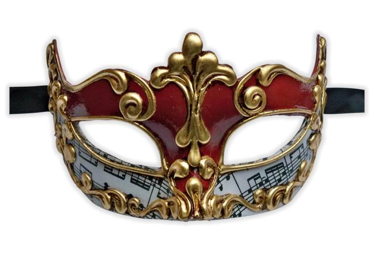 Venetian Masquerade Mask Symphony Red Gold